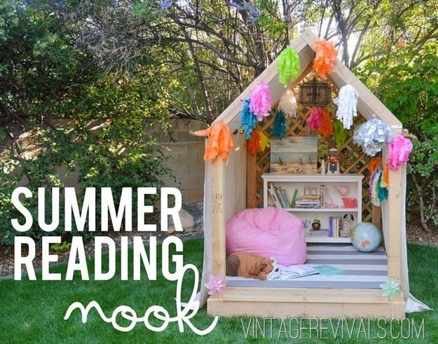 summer reading nook